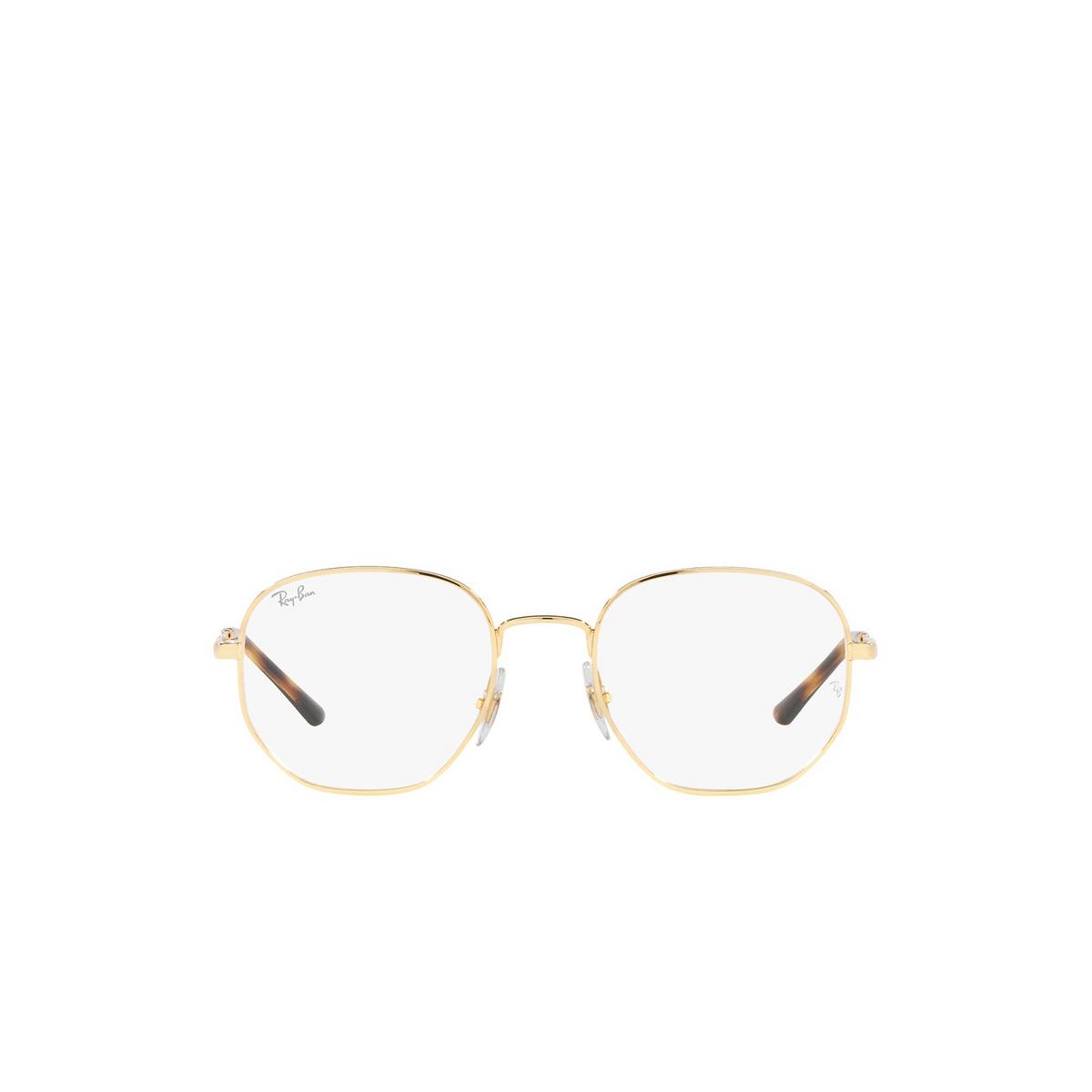 Ray-Ban® Irregular Eyeglasses: RX3682V color Gold 2500 - front view.