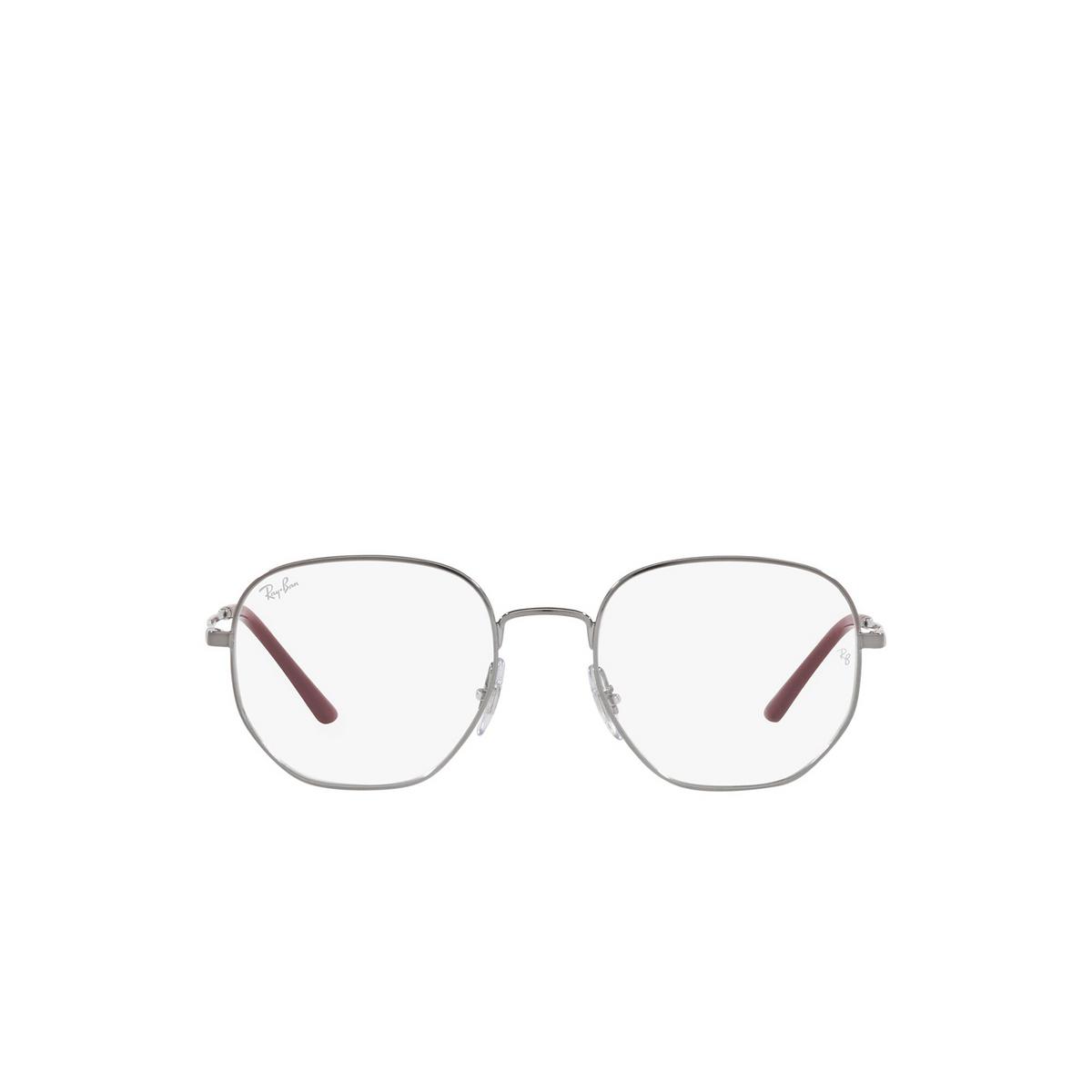 Ray-Ban® Irregular Eyeglasses: RX3682V color Gunmetal 2502 - front view.