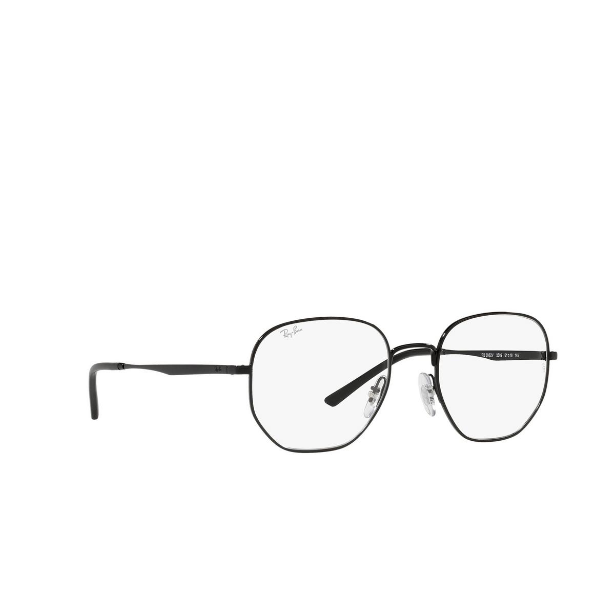 Ray-Ban® Irregular Eyeglasses: RX3682V color Black 2509 - three-quarters view.