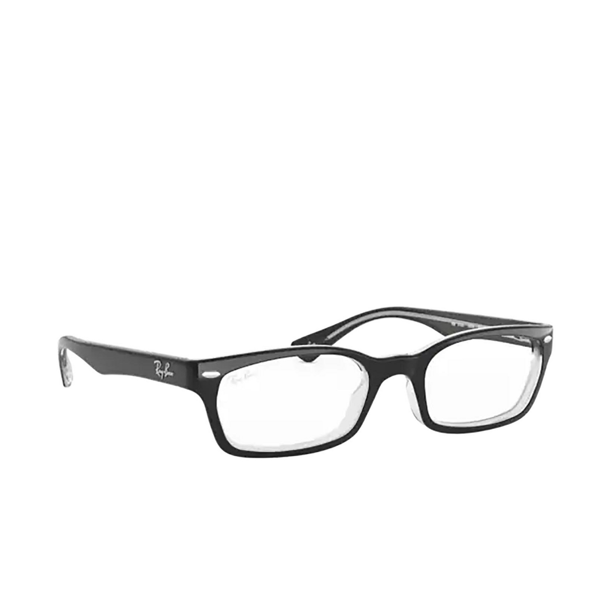 Ray-Ban® Rectangle Eyeglasses: RX5150 color Top Black On Transparent 2034.