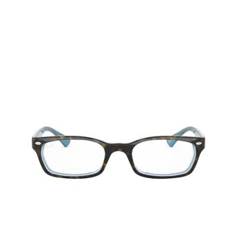 Ray-Ban® Rectangle Eyeglasses: RX5150 color Havana On Transparent Azure 5023.