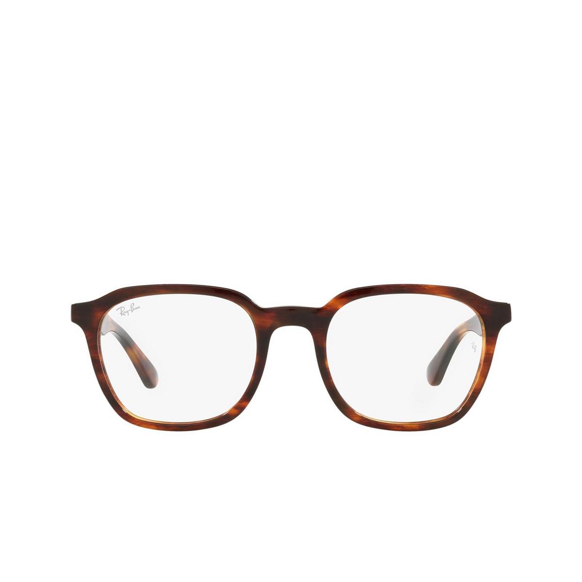 Ray-Ban® Square Eyeglasses: RX5390 color Striped Havana 2144.