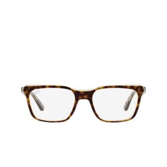 Ray-Ban® Rectangle Eyeglasses: RX5391 color Havana On Transparent 5082.