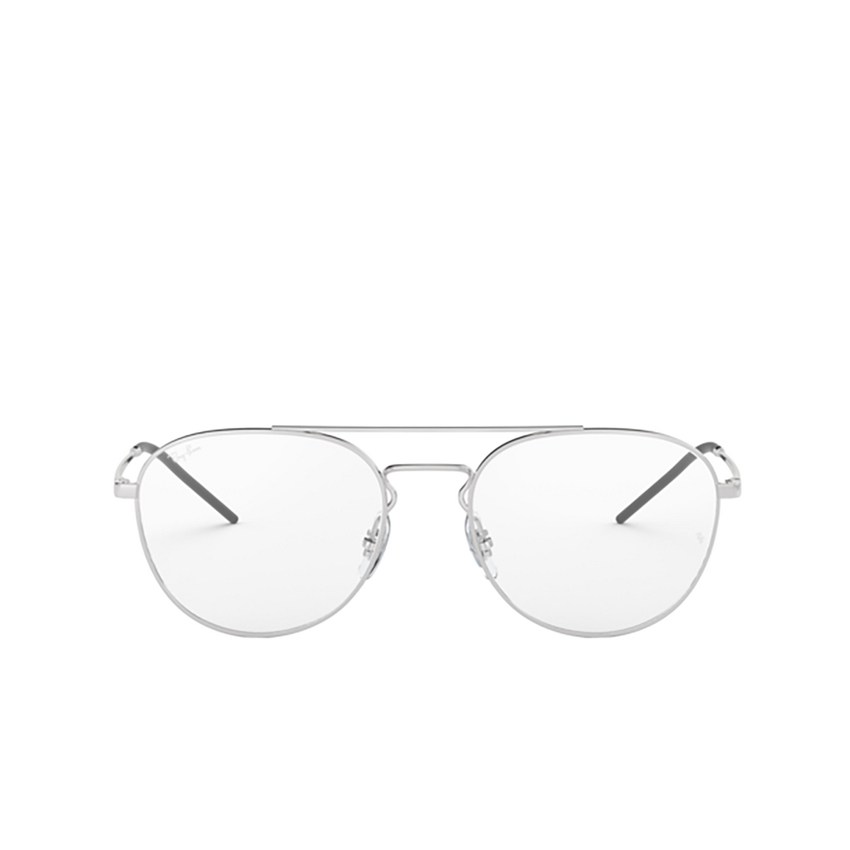 Ray-Ban® Aviator Eyeglasses: RX6414 color Silver 2501 - front view.