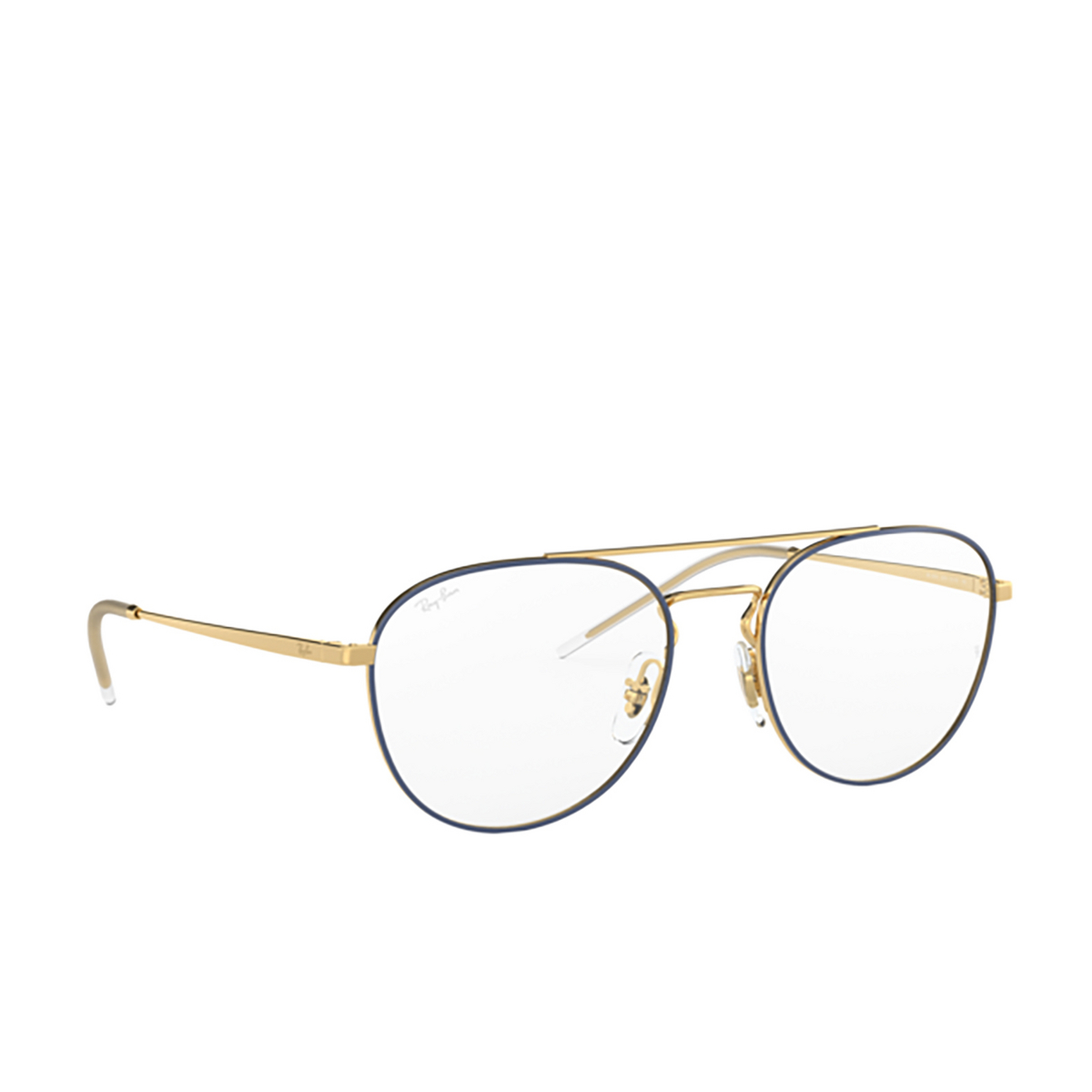 Ray-Ban® Aviator Eyeglasses: RX6414 color Gold Top Blue 2979.