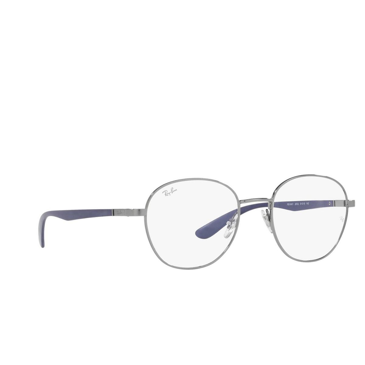 Ray-Ban® Square Eyeglasses: RX6461 color Gunmetal 2502.