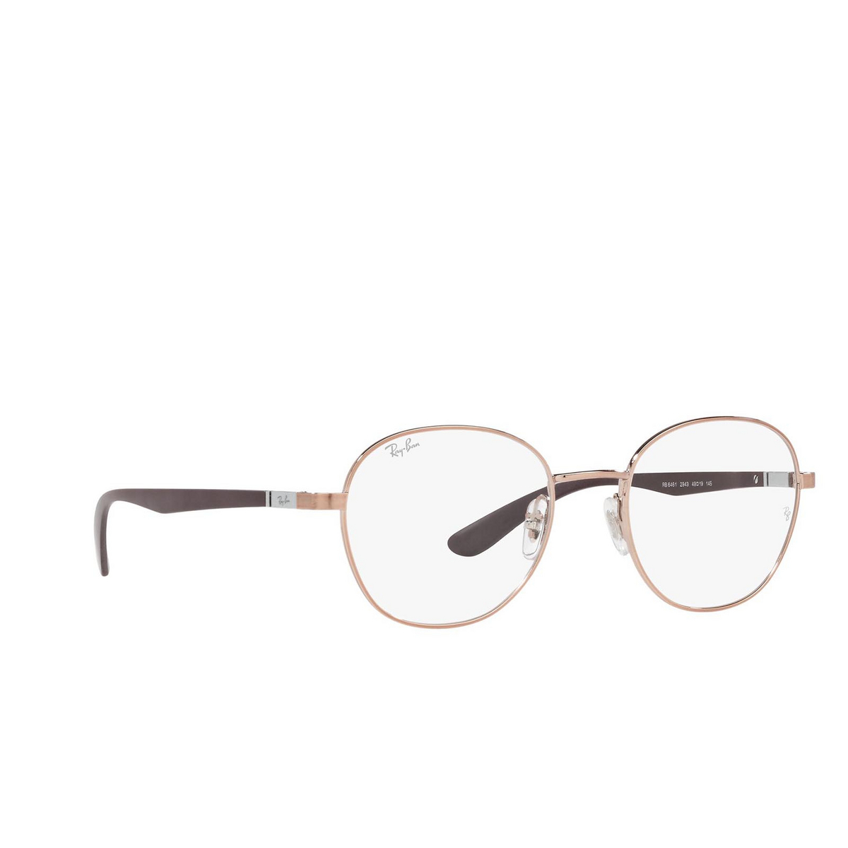 Ray-Ban® Square Eyeglasses: RX6461 color Copper 2943.