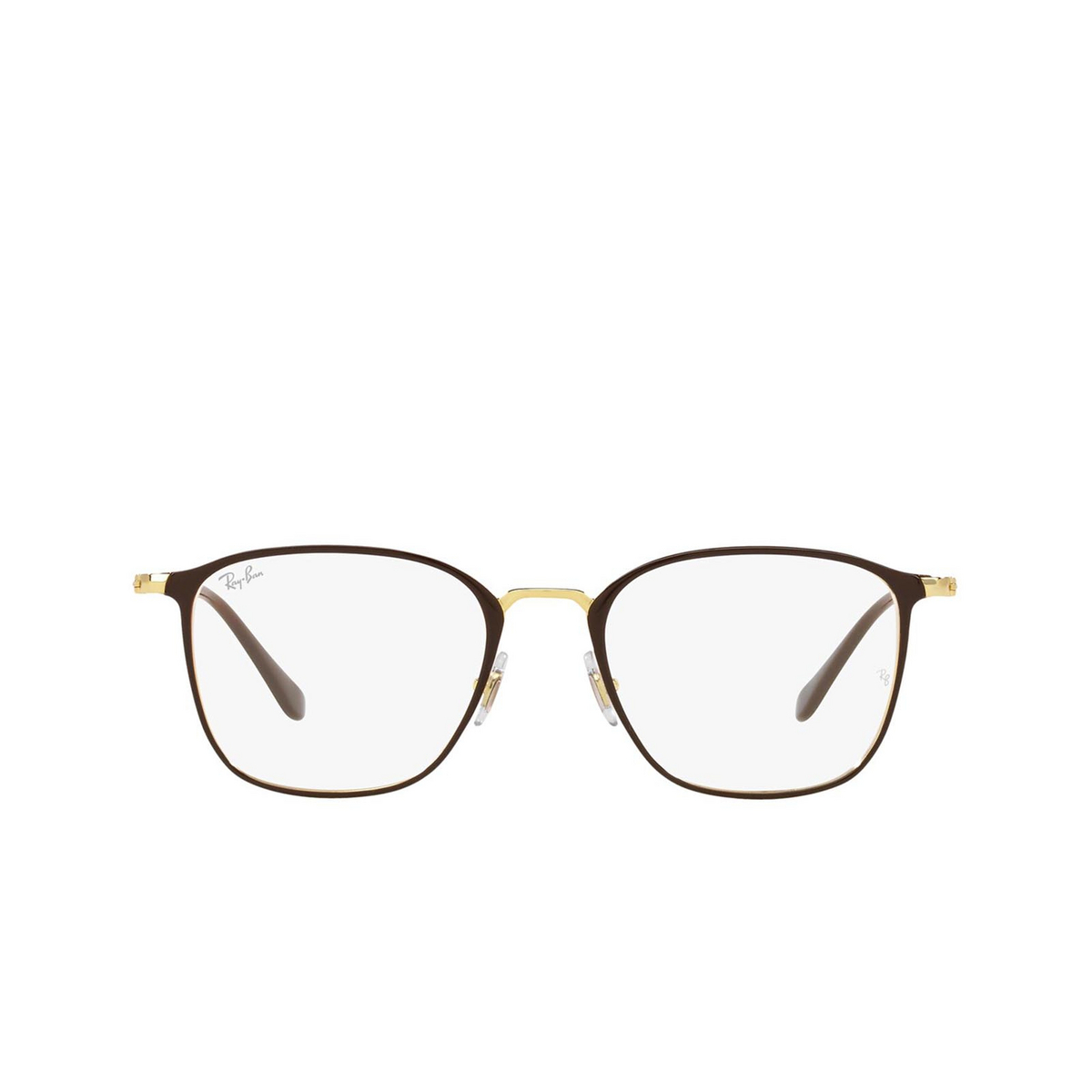 Ray-Ban® Square Eyeglasses: RX6466 color Brown On Arista 2905.