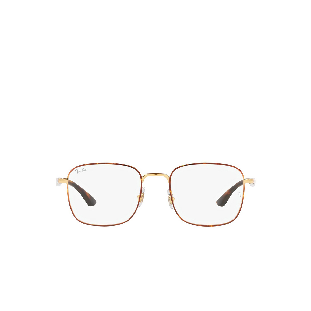 Ray-Ban® Square Eyeglasses: RX6469 color Havana On Arista 2945 - front view.