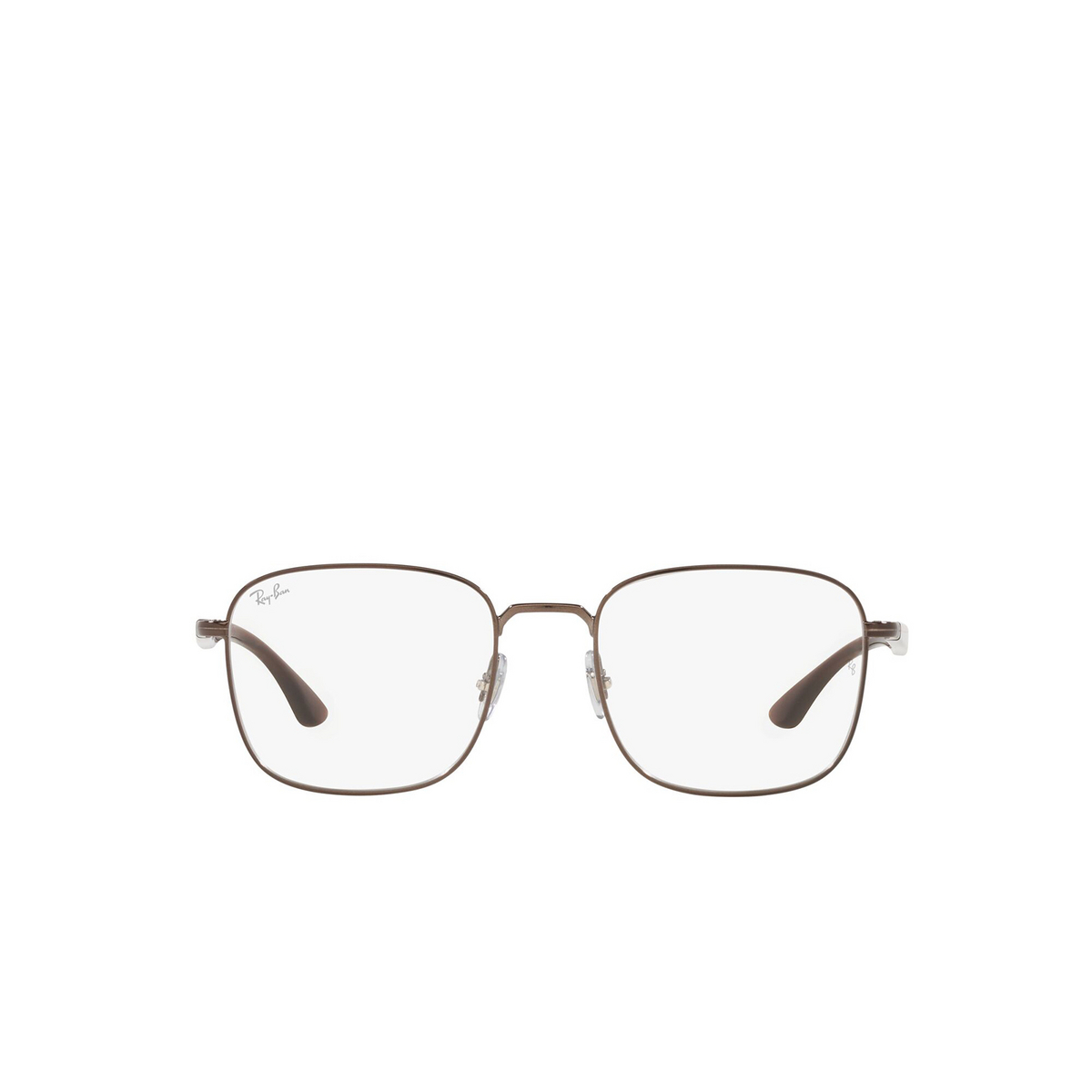 Ray-Ban® Square Eyeglasses: RX6469 color Dark Brown 3110 - front view.