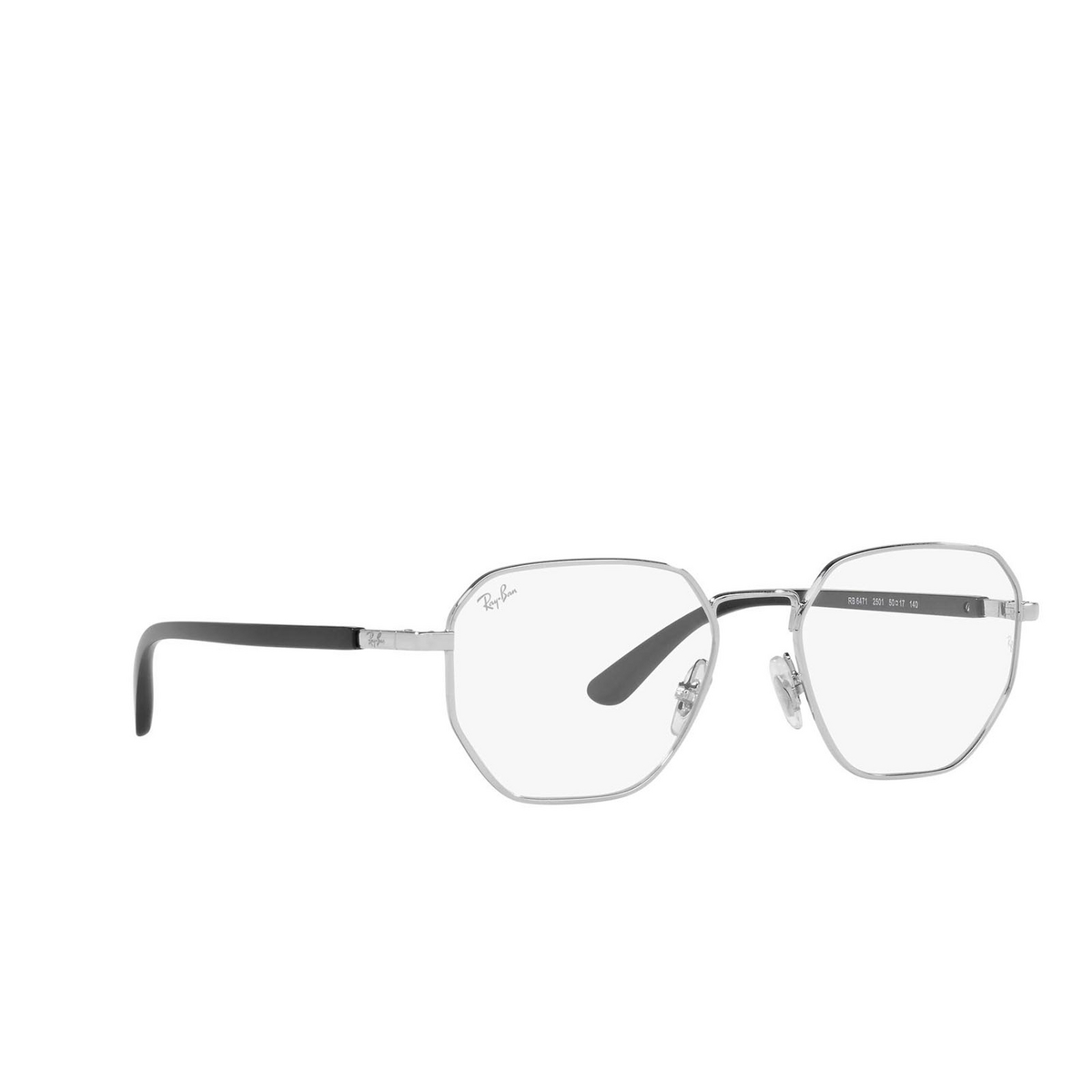 Ray-Ban® Irregular Eyeglasses: RX6471 color Silver 2501.