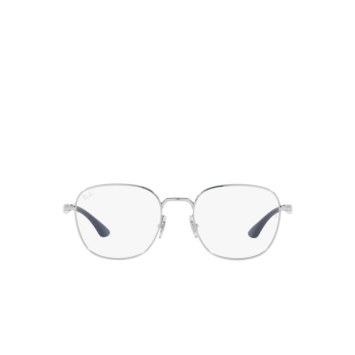 Ray-Ban® Square Eyeglasses: RX6477 color Silver 2501 - front view.