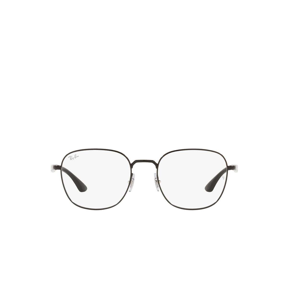 Ray-Ban® Square Eyeglasses: RX6477 color Black 2509 - front view.