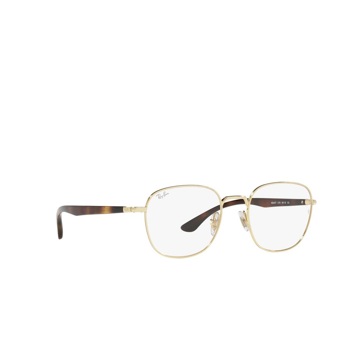 Ray-Ban® Square Eyeglasses: RX6477 color Arista 3119 - three-quarters view.