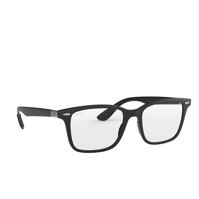 Ray-Ban® Square Eyeglasses: RX7144 color Sand Black 5204.