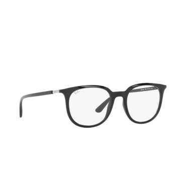 Ray-Ban® Square Eyeglasses: RX7190 color Black 2000.