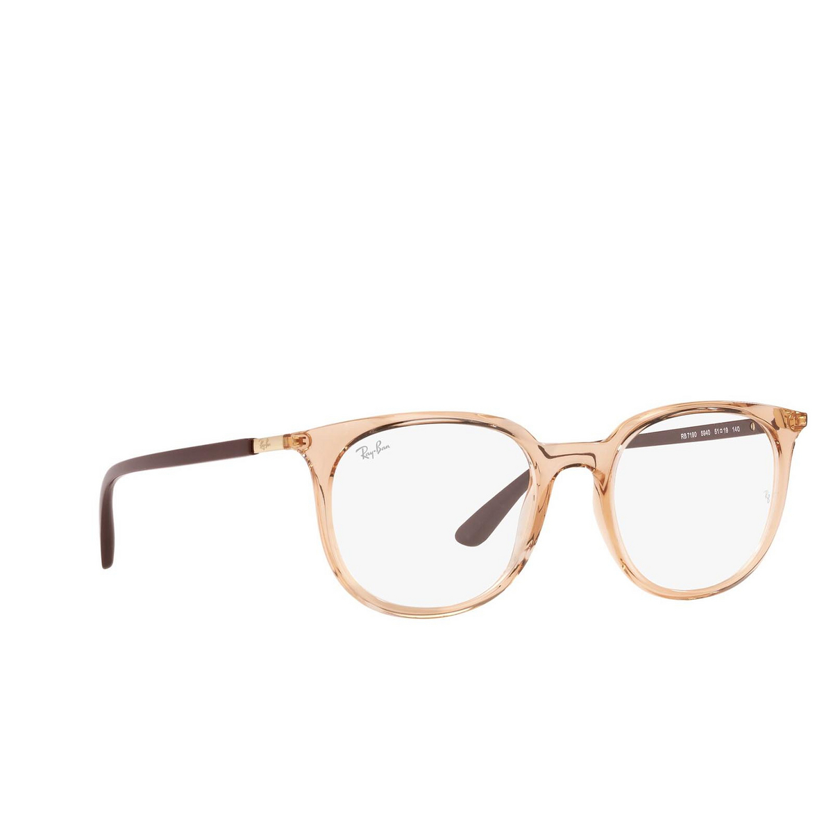 Ray-Ban® Square Eyeglasses: RX7190 color Light Brown 5940.