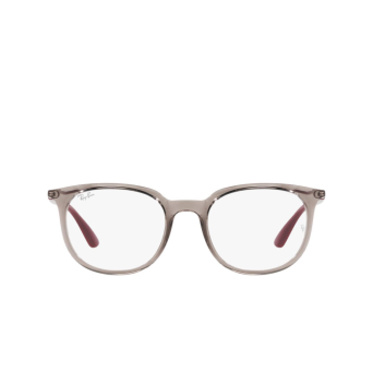 Ray-Ban® Square Eyeglasses: RX7190 color Transparent Grey 8083.