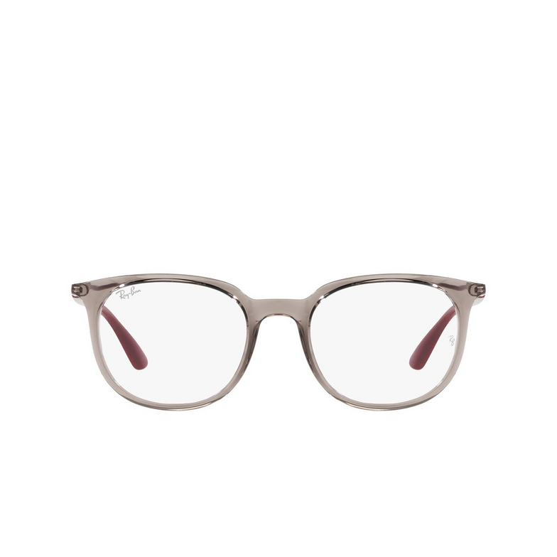 Ray-Ban® Square Eyeglasses: RX7190 color Transparent Grey 8083.