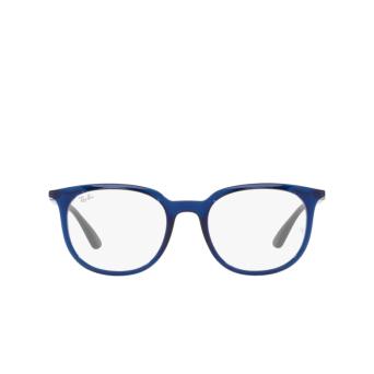 Ray-Ban® Square Eyeglasses: RX7190 color Transparent Blue 8084.
