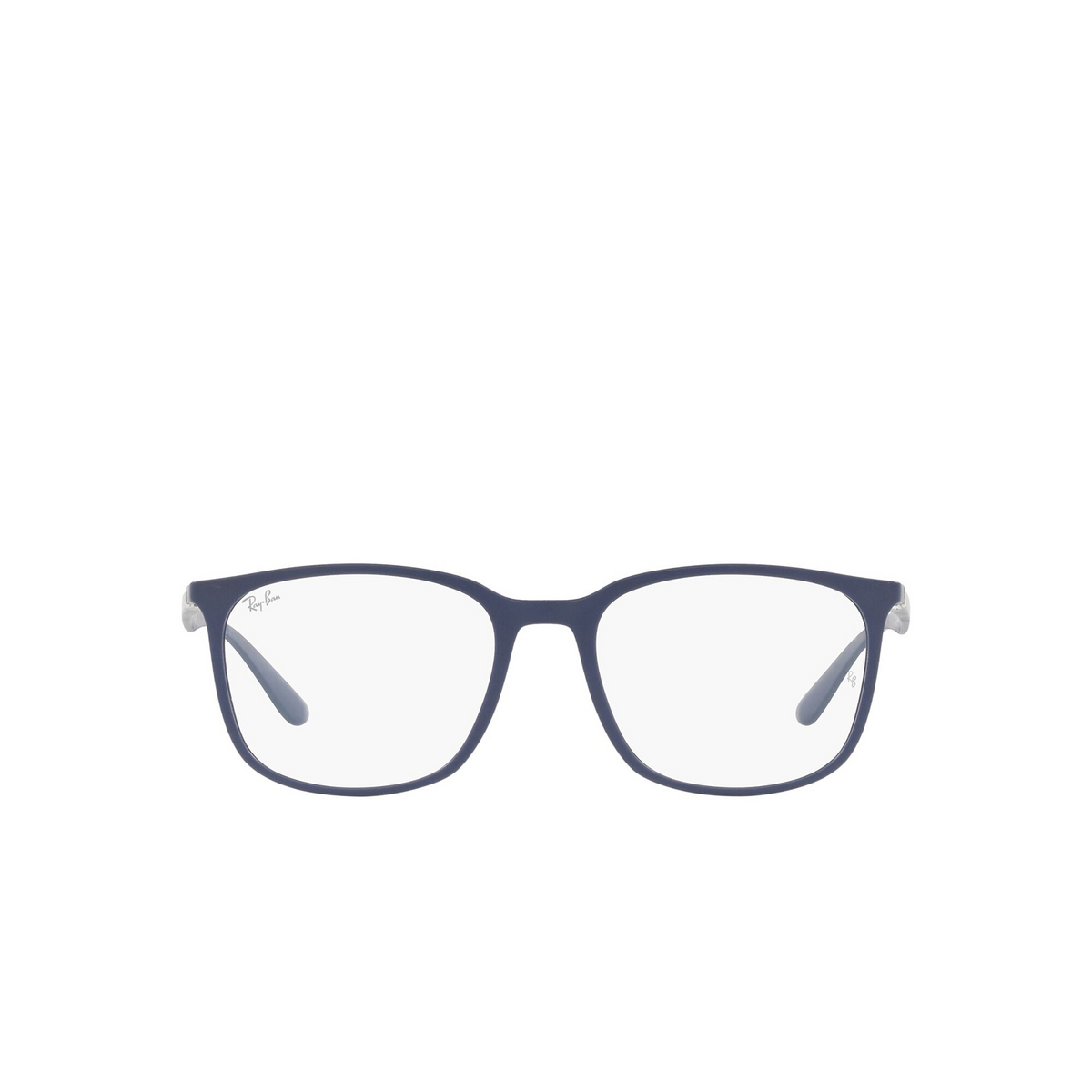 Ray-Ban® Square Eyeglasses: RX7199 color Sand Blue 5207 - front view.
