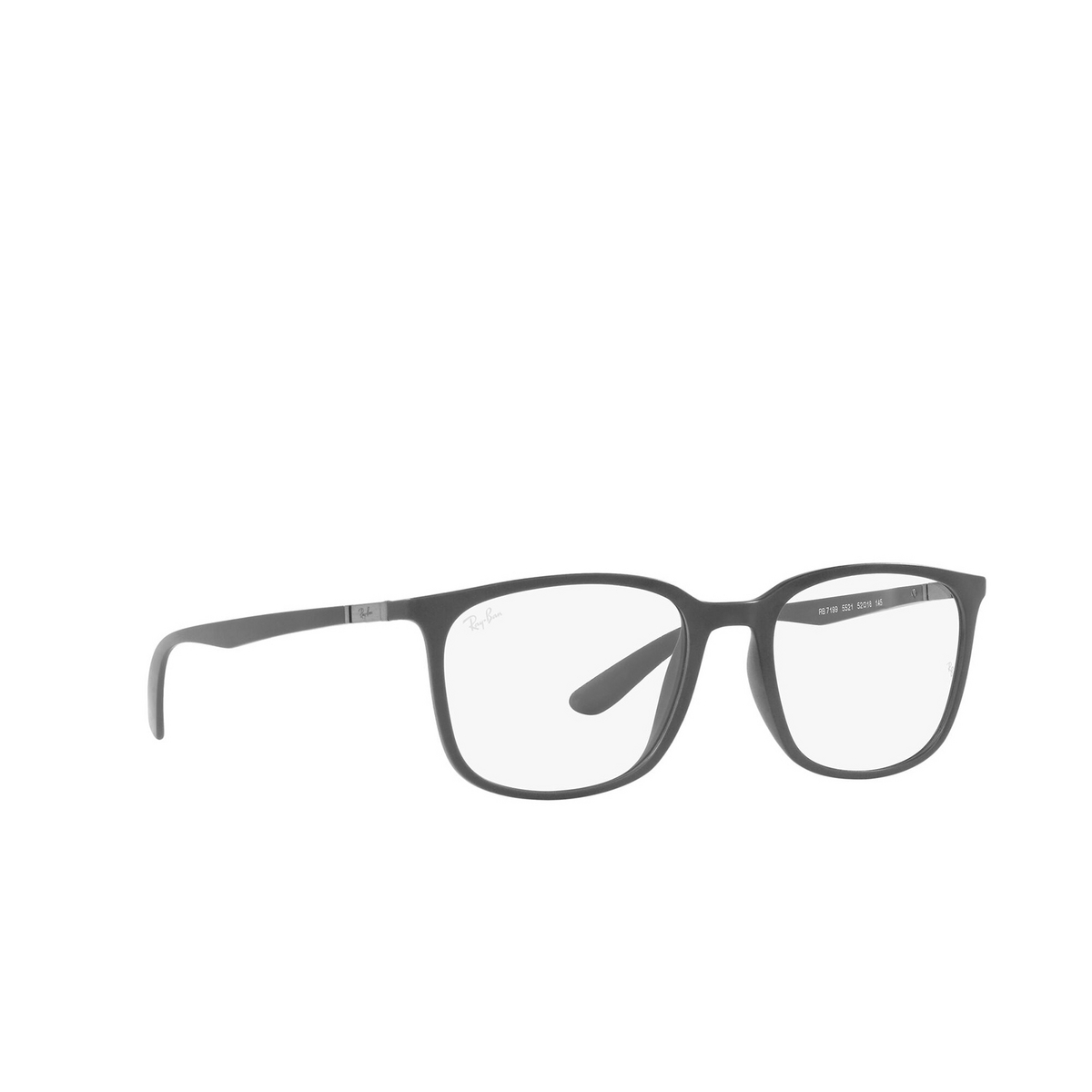 Ray-Ban® Square Eyeglasses: RX7199 color Sand Grey 5521 - three-quarters view.