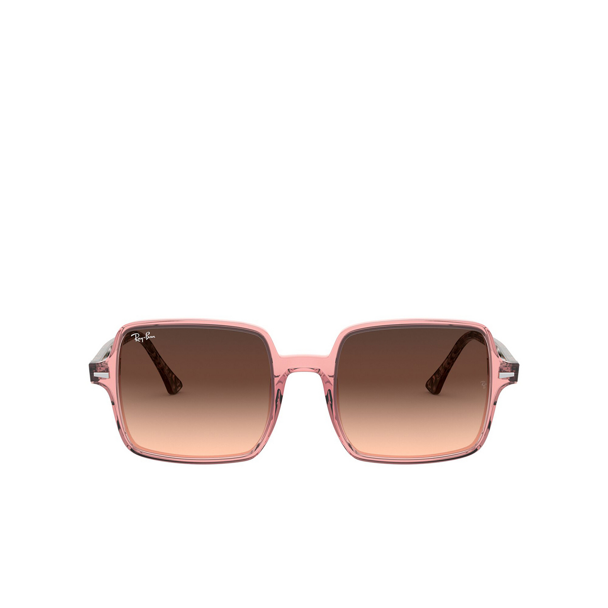 Ray-Ban® Square Sunglasses: Square Ii RB1973 color Transparent Pink 1282A5 - front view.