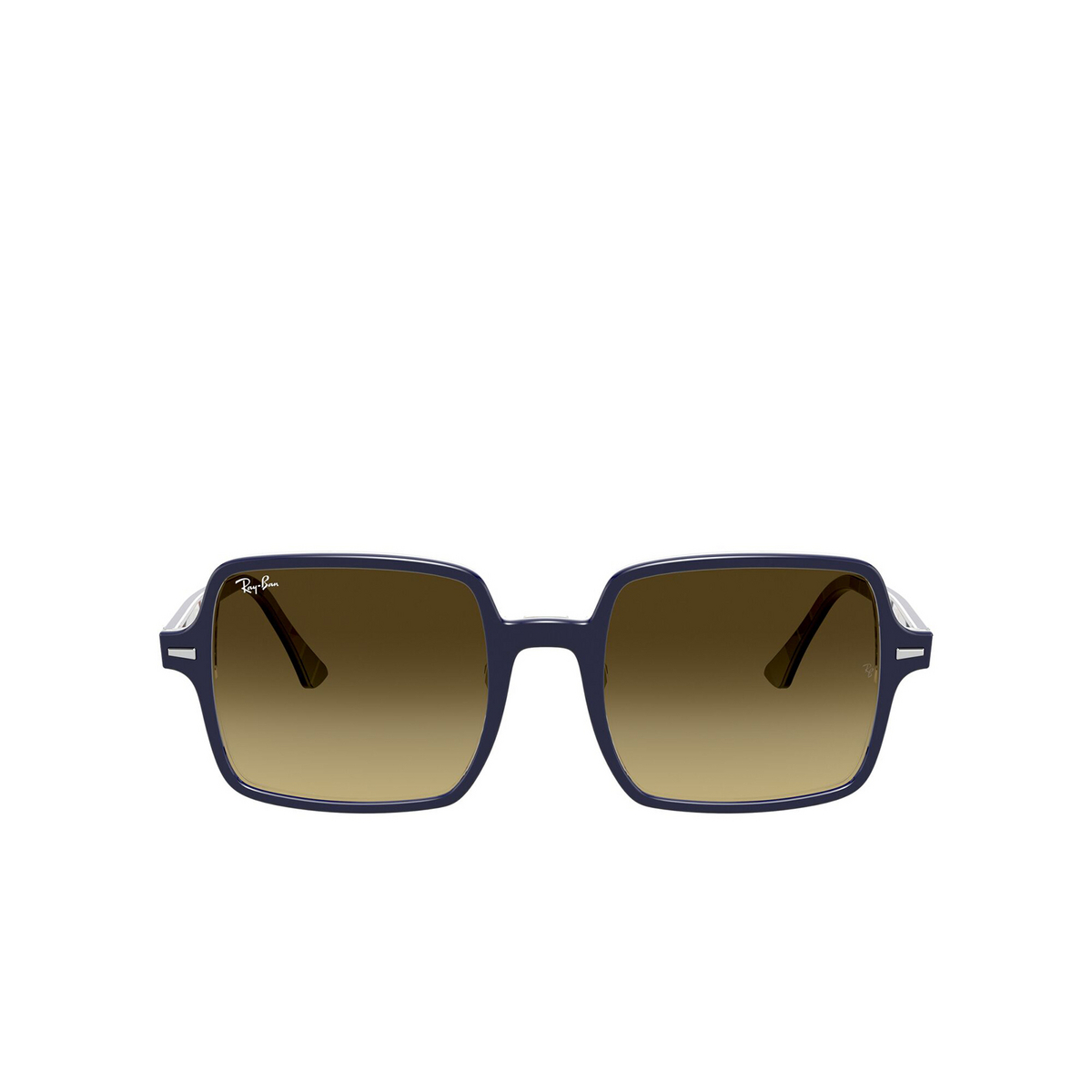 Ray-Ban® Square Sunglasses: Square Ii RB1973 color Blue Stripes 132085 - front view.