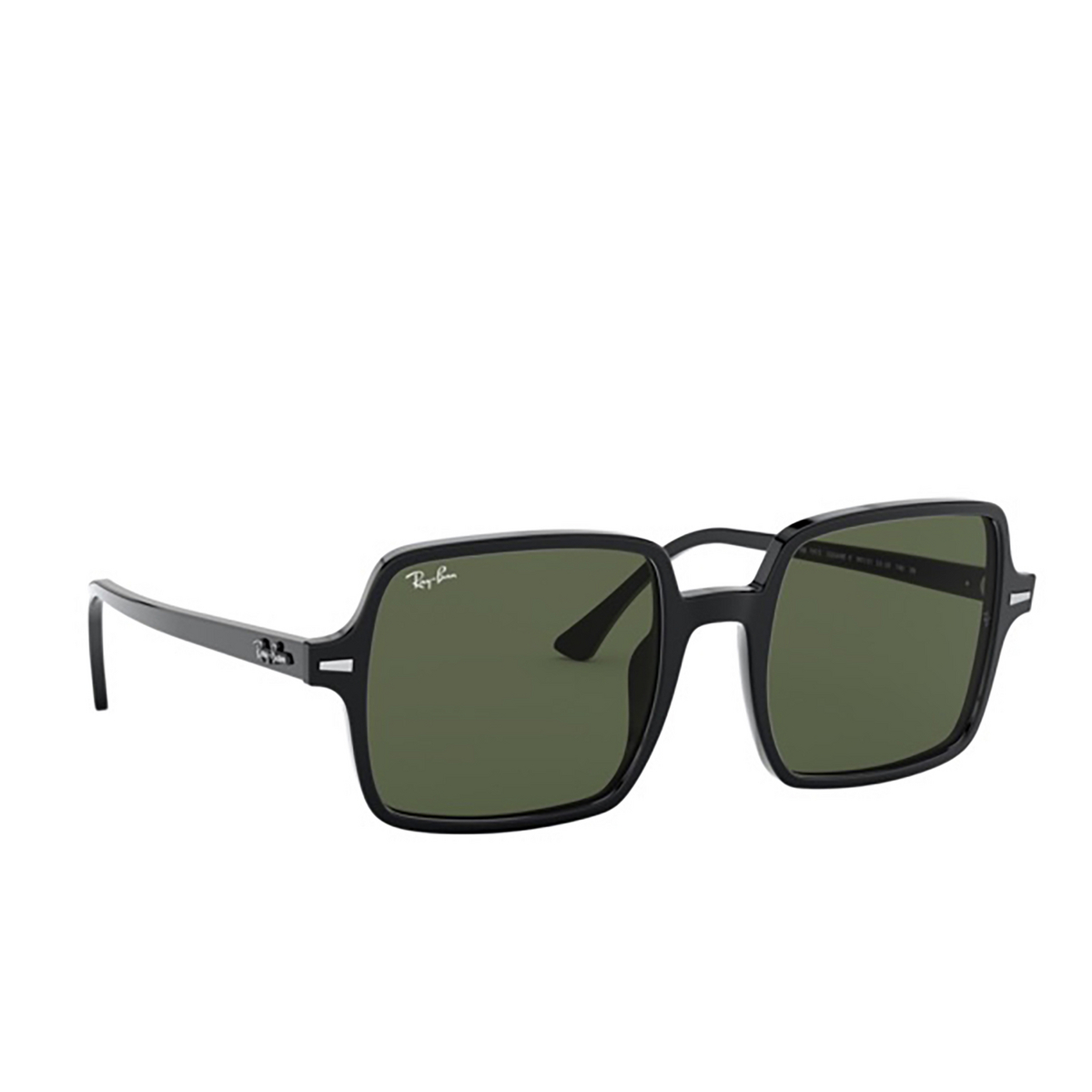 Ray-Ban® Square Sunglasses: Square Ii RB1973 color Black 901/31 - three-quarters view.