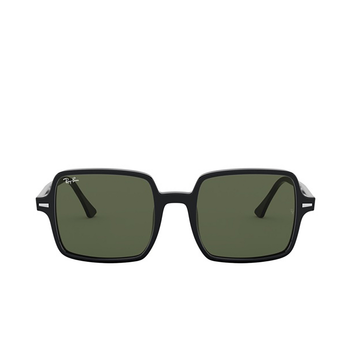 Ray-Ban® Square Sunglasses: Square Ii RB1973 color Black 901/31 - front view.