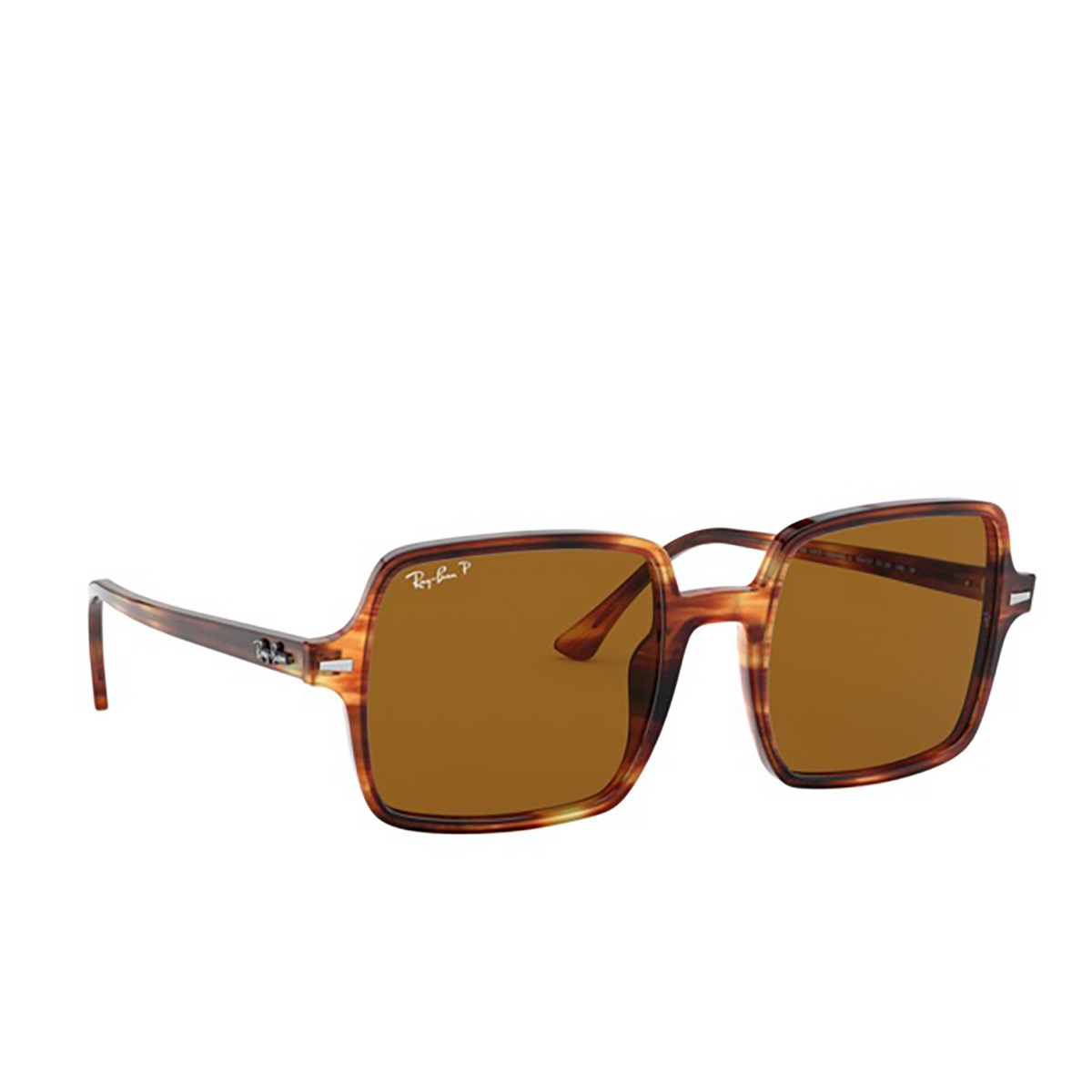Ray-Ban® Square Sunglasses: Square Ii RB1973 color Striped Havana 954/57 - three-quarters view.