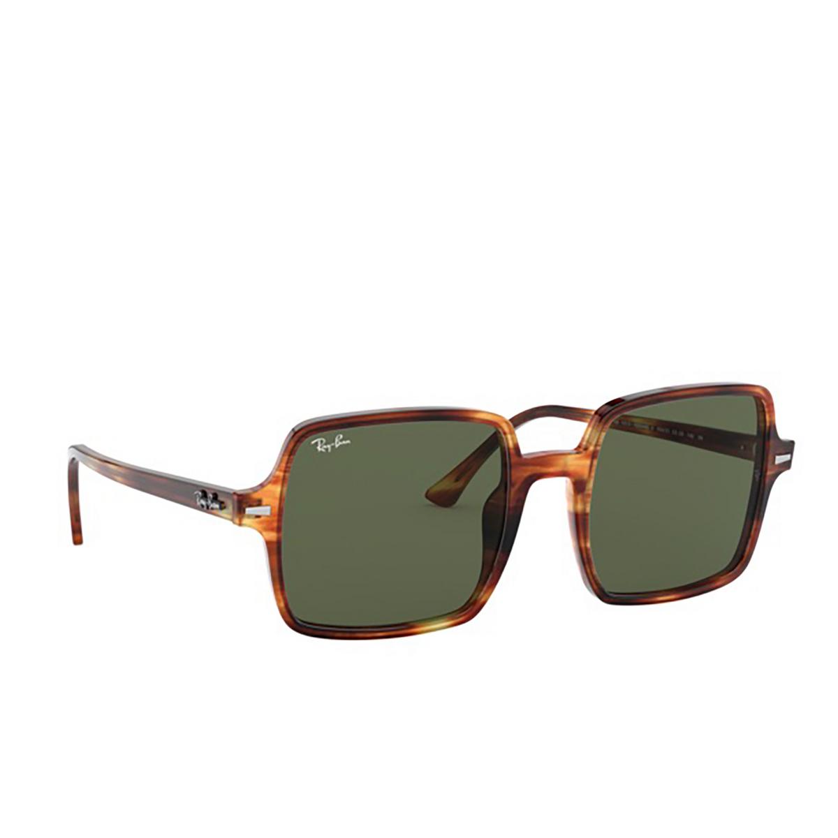 Ray-Ban® Square Sunglasses: Square Ii RB1973 color Striped Havana 954/31 - three-quarters view.