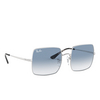 Ray-Ban® Square Sunglasses: Square RB1971 color Silver 91493F - product thumbnail 2/3.