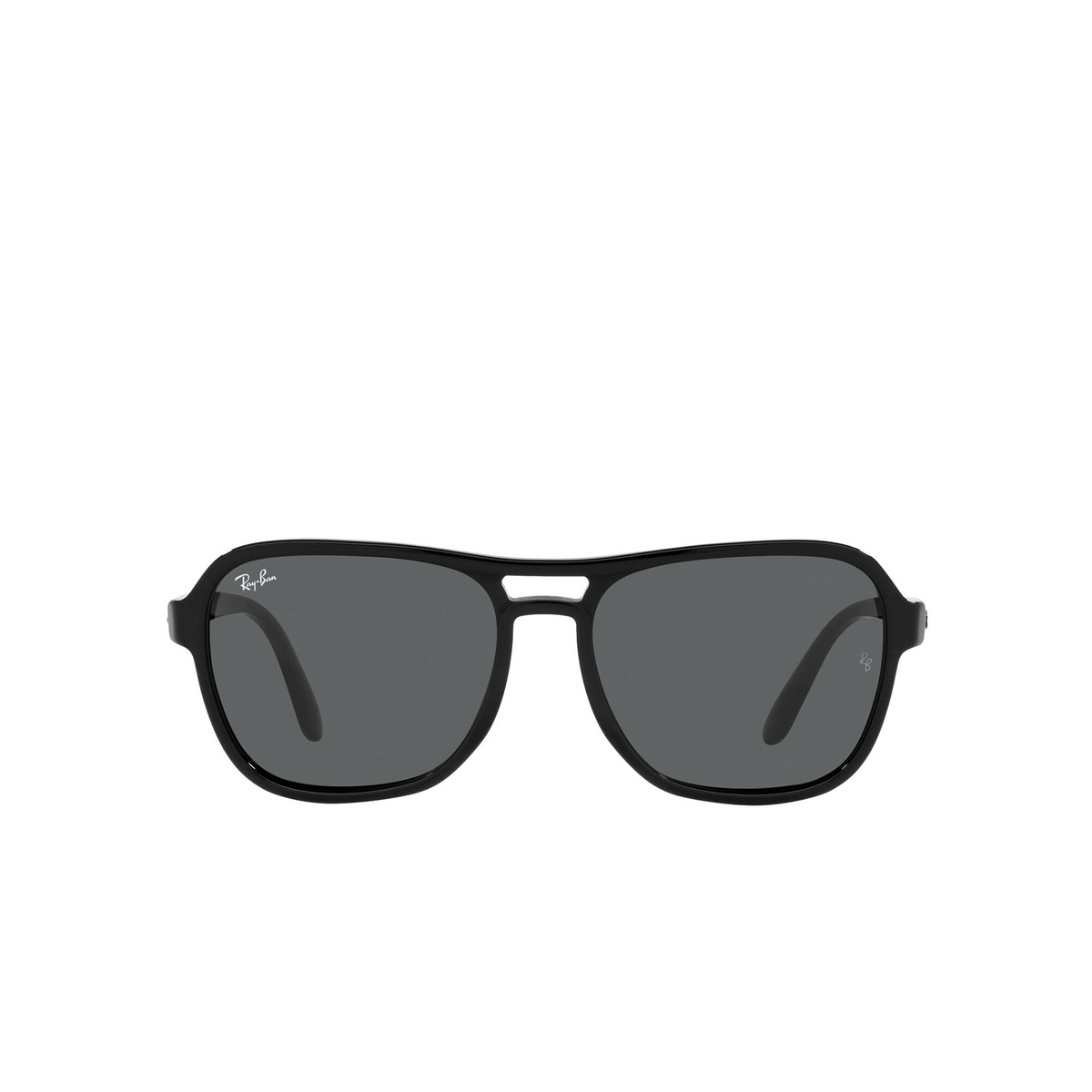 Ray-Ban® Square Sunglasses: State Side RB4356 color Black 601/B1 - front view.