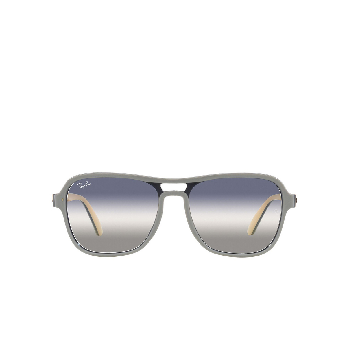Ray-Ban® Square Sunglasses: State Side RB4356 color Light Gray Blu Light Brown 6550GF - front view.
