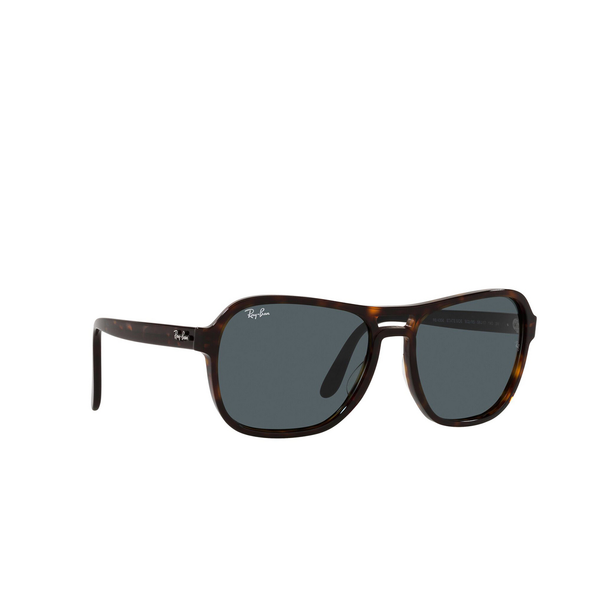 Ray-Ban® Square Sunglasses: State Side RB4356 color Havana 902/R5 - three-quarters view.