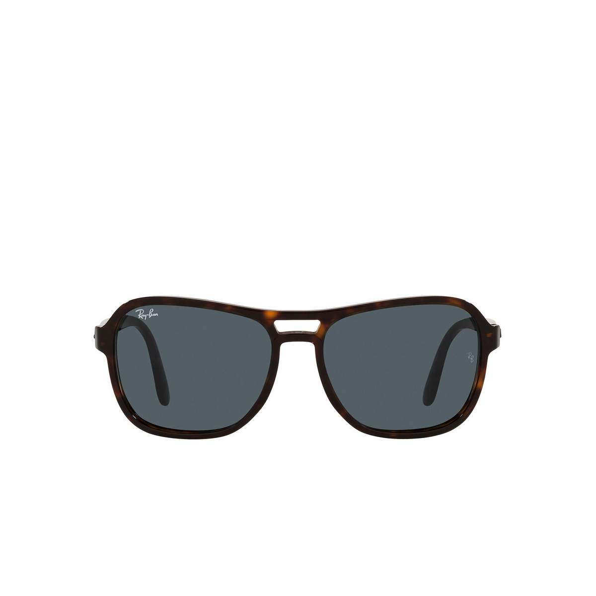 Ray-Ban® Square Sunglasses: State Side RB4356 color Havana 902/R5 - front view.