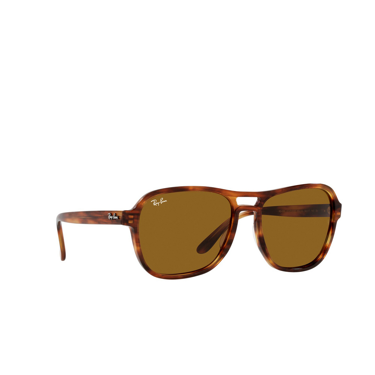 Ray-Ban® Square Sunglasses: State Side RB4356 color Striped Havana 954/33 - three-quarters view.