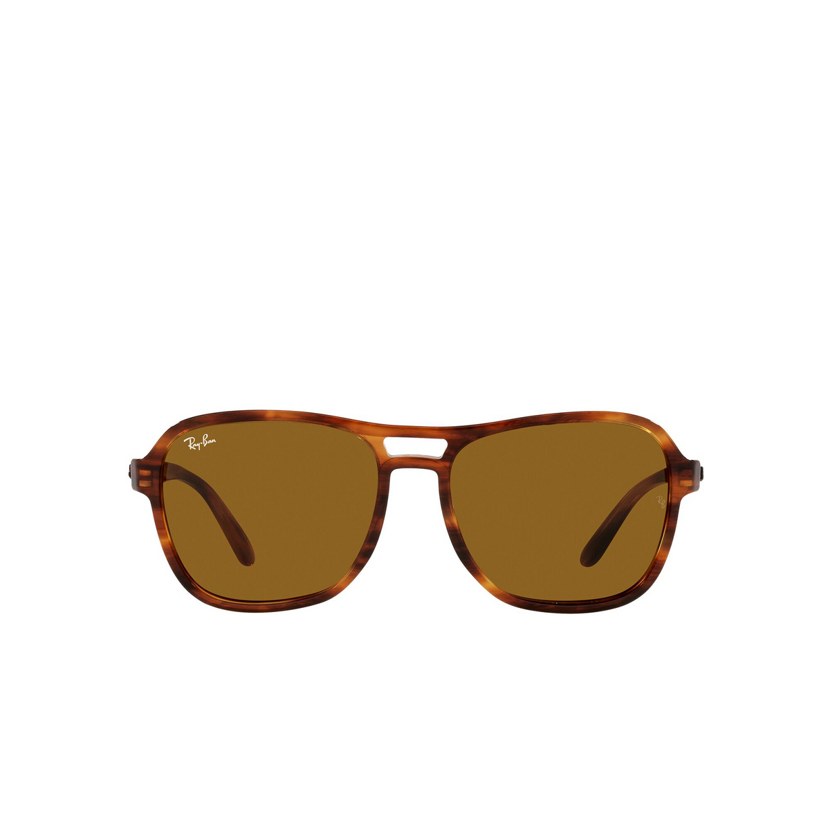 Ray-Ban® Square Sunglasses: State Side RB4356 color Striped Havana 954/33 - front view.