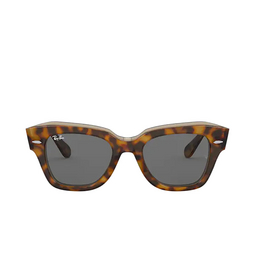 Ray-Ban® Square Sunglasses: State Street RB2186 color Havana On Transparent Brown 1292B1.
