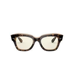 Ray-Ban® Square Sunglasses: State Street RB2186 color Havana On Trasparent Light Bro 1292BL.