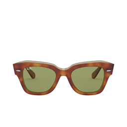 Ray-Ban® Square Sunglasses: State Street RB2186 color Havana On Transparent Beige 12934E.