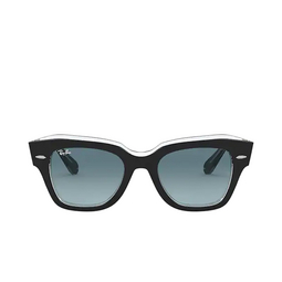 Ray-Ban® Square Sunglasses: State Street RB2186 color Black On Transparent 12943M.