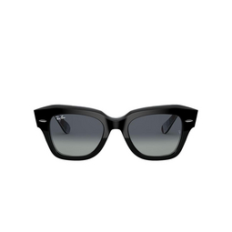 Ray-Ban® Square Sunglasses: State Street RB2186 color Black On Chevron Grey / Burgundy 13183A.