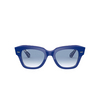 Ray-Ban® Square Sunglasses: State Street RB2186 color Blue On Vichy Blue / White 13193F - product thumbnail 1/3.