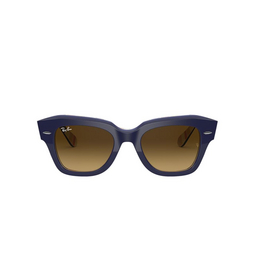 Ray-Ban® Square Sunglasses: State Street RB2186 color Blue On Stripes Orange / Blue 132085.