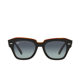 Ray-Ban® Sunglasses: State Street RB2186 color Black On Transparent Brown 132241.