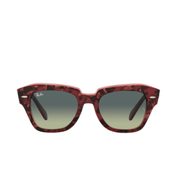 Ray-Ban® Sunglasses: State Street RB2186 color Havana On Transparent Purple 1323BH.