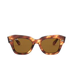 Ray-Ban® Square Sunglasses: State Street RB2186 color Stripped Havana 954/33.