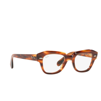Ray-Ban® Square Eyeglasses: State Street RX5486 color Striped Havana 2144.